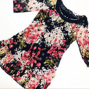 • Rebecca Taylor Silk Floral Dress Size 8 •